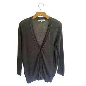Ann Taylor Loft Gray Cardigan Sweater